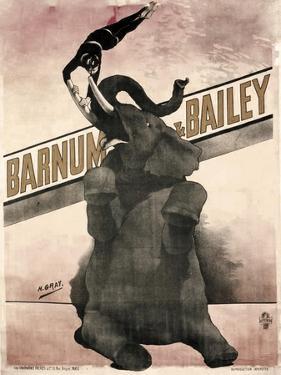 Elephant Gray Barnum and Bailey