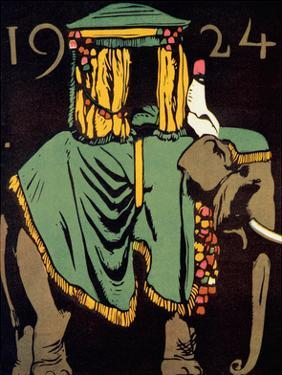 Elephant with Howdah, c.1924