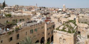Elevated view of a city, Jewish Quarter, Old City, Jerusalem, Israel