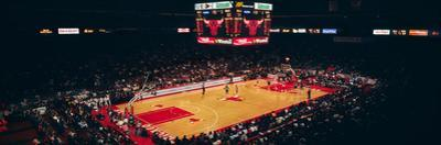Elevated view of basketball stadium, United Center, Chicago, Cook county, Illinois, USA
