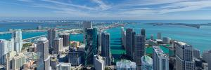 Elevated view of city at the waterfront, Miami, Miami-Dade County, Florida, USA