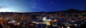 Elevated view of cityscape at sunset, Guanajuato, Mexico