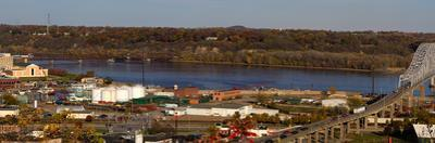 Elevated view of cityscape, Dubuque, Dubuque County, Iowa, USA