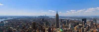 Elevated view of cityscape, Empire State Building, Manhattan, New York City, New York State, USA
