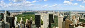 Elevated view of cityscape from Top of the Rock, Central Park, Manhattan, New York City, New Yor...