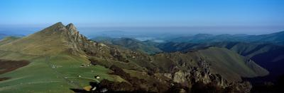 Elevated view of Irau Peaks, Iraty Mountain, Basque Country, Pyrenees-Atlantiques, France