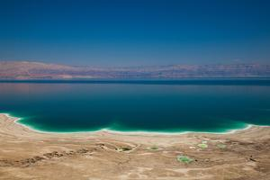 Elevated view of the Dead Sea, Metzoke Dragot, Israel
