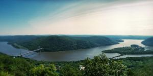 Elevated View of the Hudson River from Bear Mountain, Bear Mountain State Park