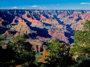 Elevated view of the rock formations in a canyon, Maricopa Point, West Rim Drive, South Rim, Gra...