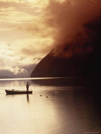 Fisherman at Sunrise, Lake Grundlsee