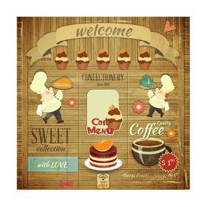 Cafe Confectionery Menu Retro Design by elfivetrov