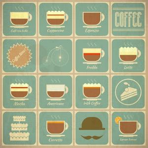 Coffee Labels Set by elfivetrov