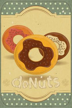 Donuts On Retro Card by elfivetrov