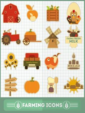 Farming Icons Set by elfivetrov