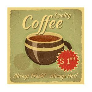 Grunge Card With Coffee Cup by elfivetrov