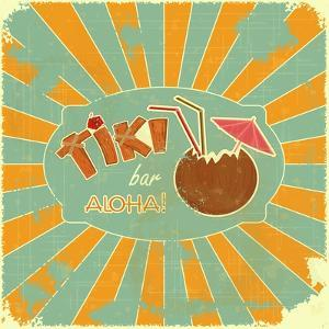 Retro Design Tiki Bar Menu by elfivetrov