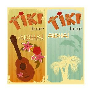 Two Cards For Tiki Bars by elfivetrov