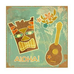 Vintage Hawaiian Card by elfivetrov