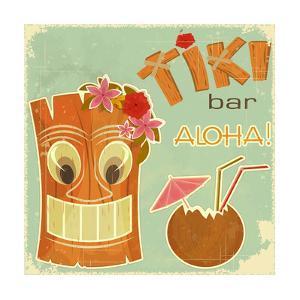 Vintage Hawaiian Postcard by elfivetrov