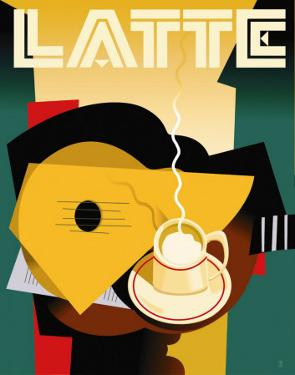 Cubist Latte by Eli Adams