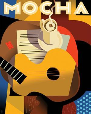 Cubist Mocha II by Eli Adams