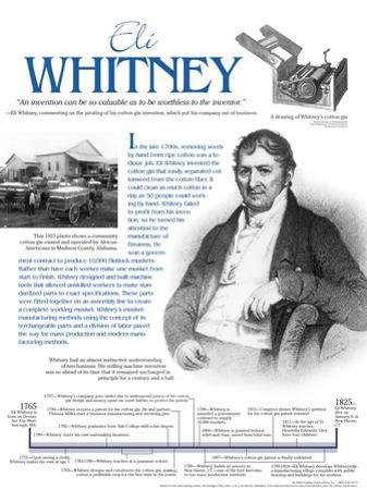 Eli Whitney - Educational Poster