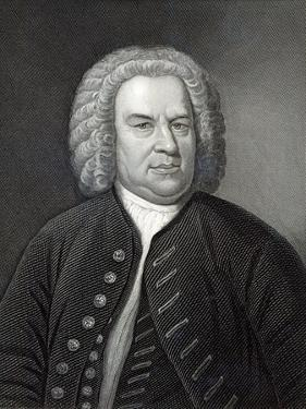 Portrait of Johann Sebastian Bach, German Composer (Engraving) by Elias Gottleib Haussmann
