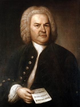 Johann Sebastian Bach (1685-175), German Composer and Organist, 1746 by Elias Gottlob Haussmann