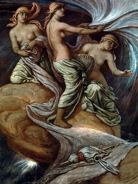Fates Gathering In Stars by Elihu Vedder