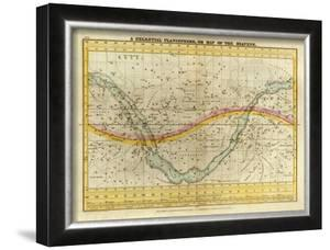 Celestial Planisphere, or Map of the Heavens, c.1835 by Elijah H. Burritt