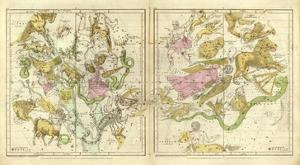 The Constellations in April - September, c.1835 by Elijah H. Burritt