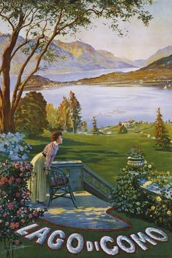 Lago Di Como Poster by Elio Ximenes