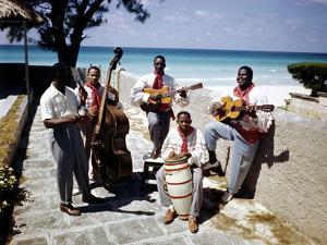 December 1946: Band at the Kastillito Club in Veradero Beach Hotel, Cuba by Eliot Elisofon