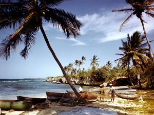 December 1946: Fishermen at Runaway Bay in Jamaica by Eliot Elisofon