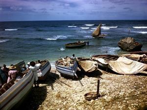 December 1946: Fishing Fleet at Bathsheba, Barbados by Eliot Elisofon