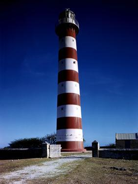 December 1946: Red and White Lighthouse in Barbados by Eliot Elisofon