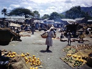 December 1946: Vendors at an Open Air Market at Petionville, Haiti by Eliot Elisofon
