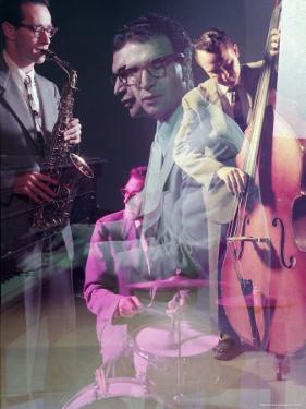 Multiple Exposure of the Dave Brubeck Quartet by Eliot Elisofon