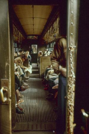 View of Commuters as They Ride in a Car on the Third Avenue Train, New York, New York, 1955 by Eliot Elisofon