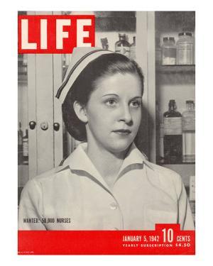 Wanted: 50,000 Nurses, Alberta Rose Krajce, Brooklyn Naval Hospital Nurse Shortage, January 5, 1942 by Eliot Elisofon