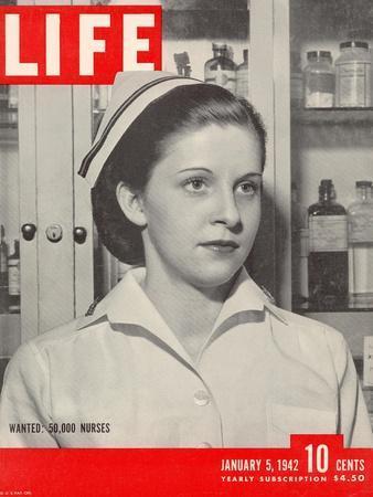 Wanted: 50,000 Nurses, Alberta Rose Krajce, Brooklyn Naval Hospital Nurse Shortage, January 5, 1942
