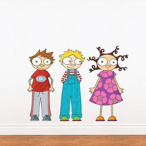 Eliot, Ludo & Lou Wall Decal