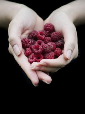 Handful of Raspberries by Elisa Lazo De Valdez
