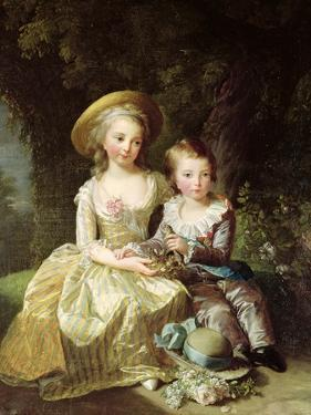 Child Portraits of Marie-Therese-Charlotte of France by Elisabeth Louise Vigee-LeBrun