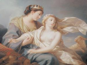 Innocence Takes Refuge in the Arms of Justice by Elisabeth Louise Vigee-LeBrun