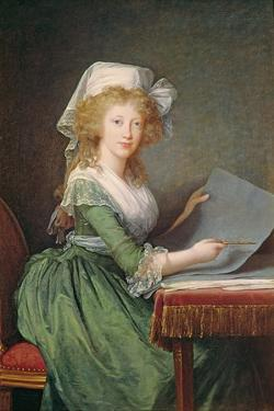Marie-Louise of Bourbon-Sicily (1773-1802) 1790 by Elisabeth Louise Vigee-LeBrun