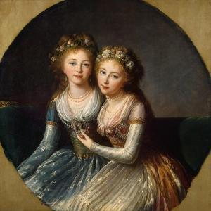 Portrait of Grand Duchesses Alexandra Pavlovna and Elena Pavlovna of Russia, 1796 by Elisabeth Louise Vigee-LeBrun