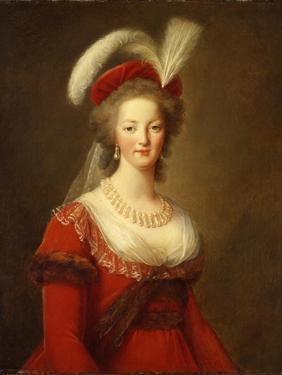 Portrait of Marie Antoinette, Queen of France by Elisabeth Louise Vigee-LeBrun