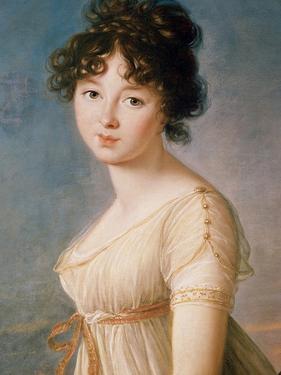 Princess Aniela Angelique Czartoryska Nee Radziwill, 1802 by Elisabeth Louise Vigee-LeBrun