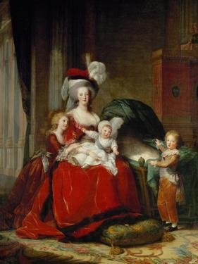 Queen Marie-Antoinette and Her Children, 1787 by Elisabeth Louise Vigee-LeBrun